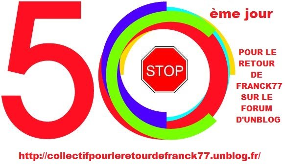 Soutien à Franck77 : 50 jours de bannissement de trop ... dans bonnehumeur/isanew franck-50eme-jour